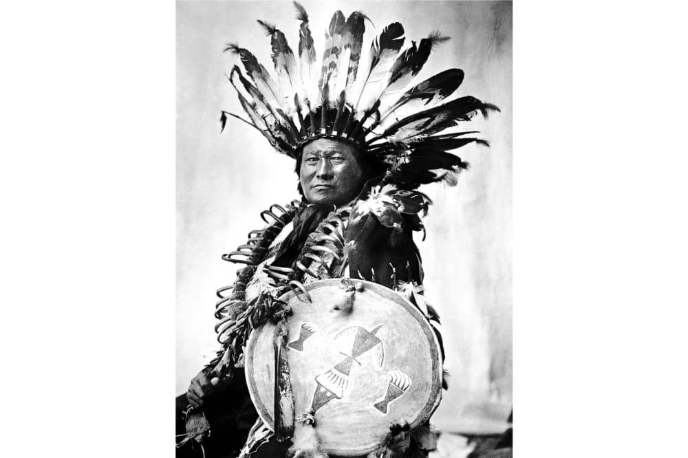3. A man in a full headdress