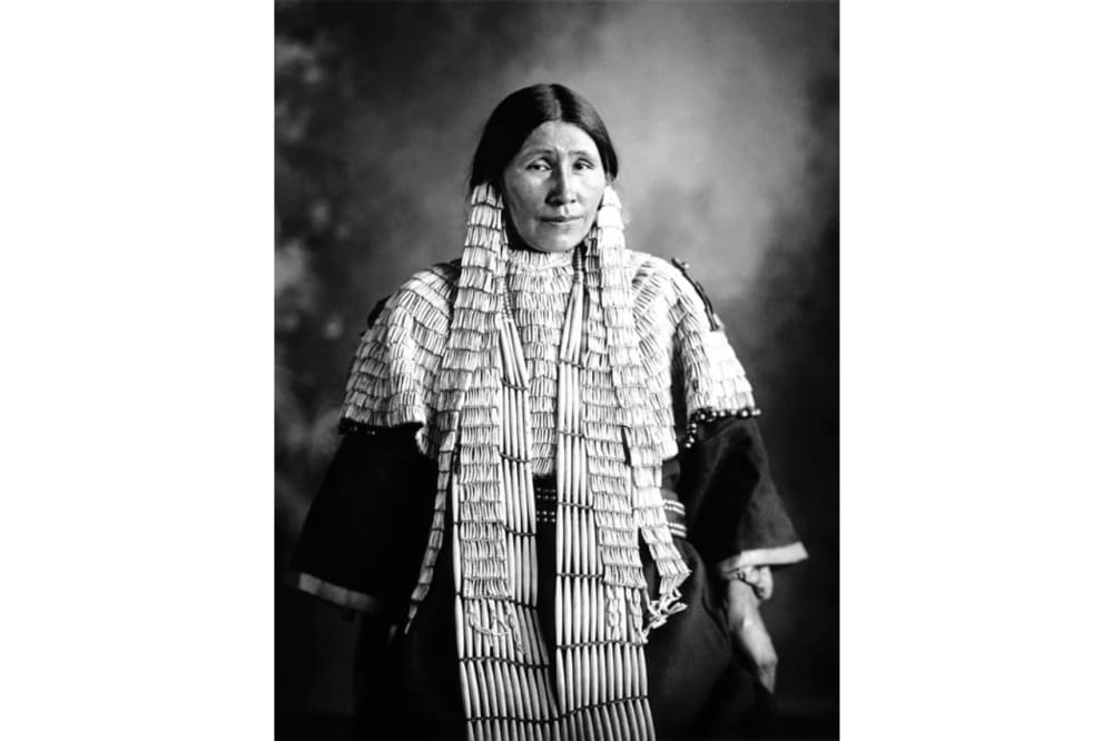 1. A Sioux woman in traditional dress