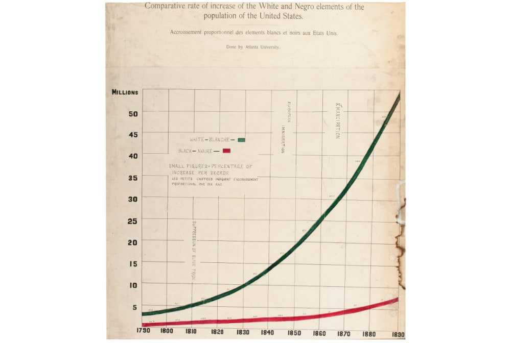 """6. """"COMPARATIVE RATE OF INCREASE OF THE WHITE AND NEGRO ELEMENTS OF THE POPULATION OF THE UNITED STATES"""""""