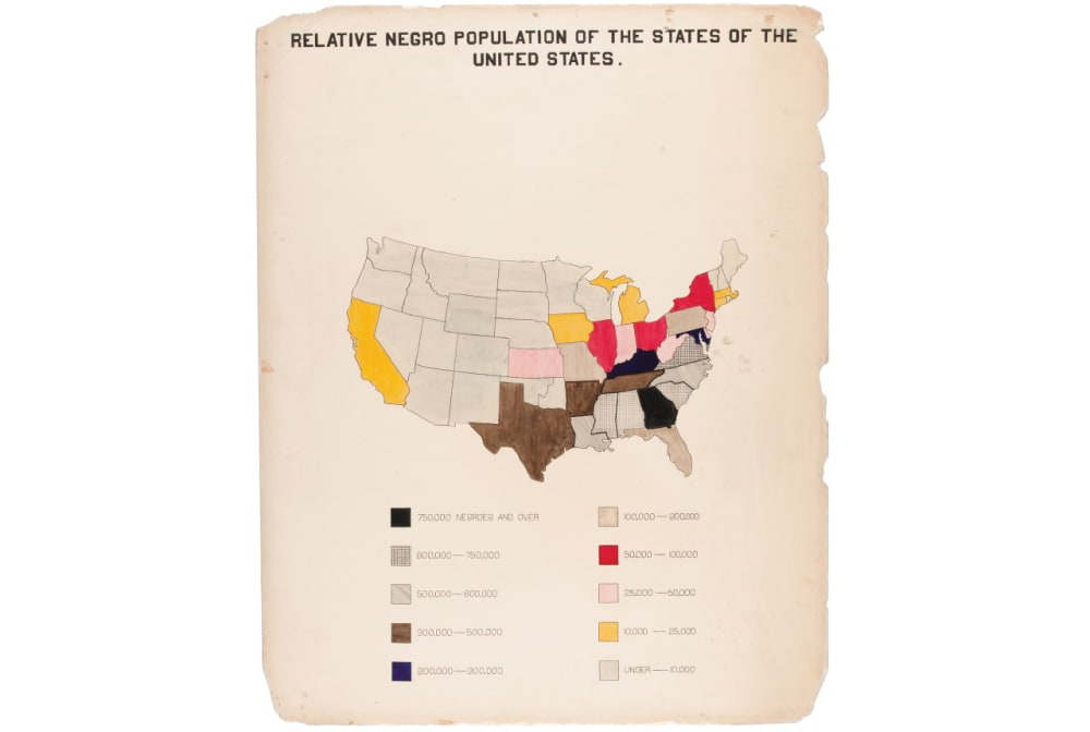 """1. """"RELATIVE NEGRO POPULATION OF THE STATES OF THE UNITED STATES"""""""