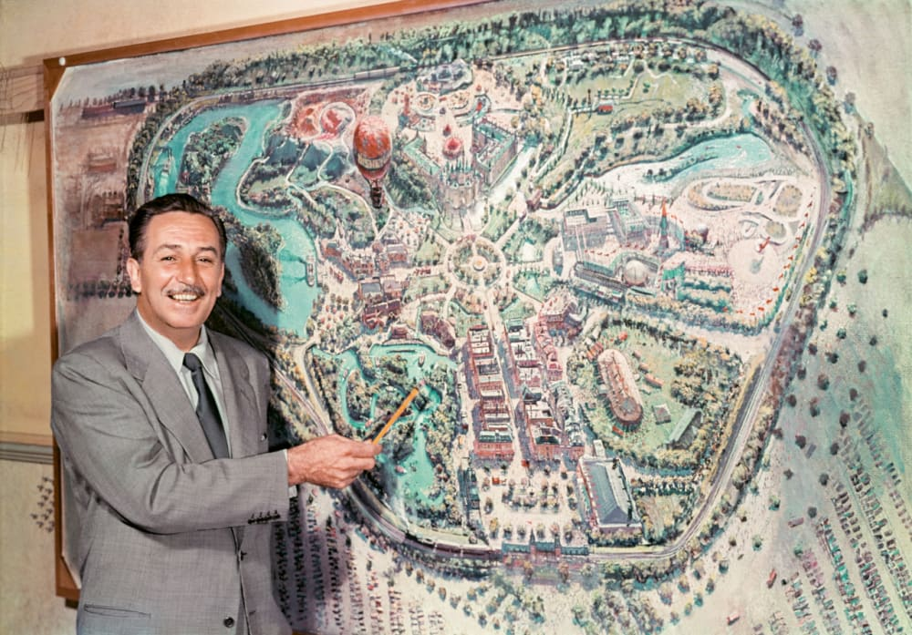 1. WALT AND A MAP OF FUTURE DISNEYLAND