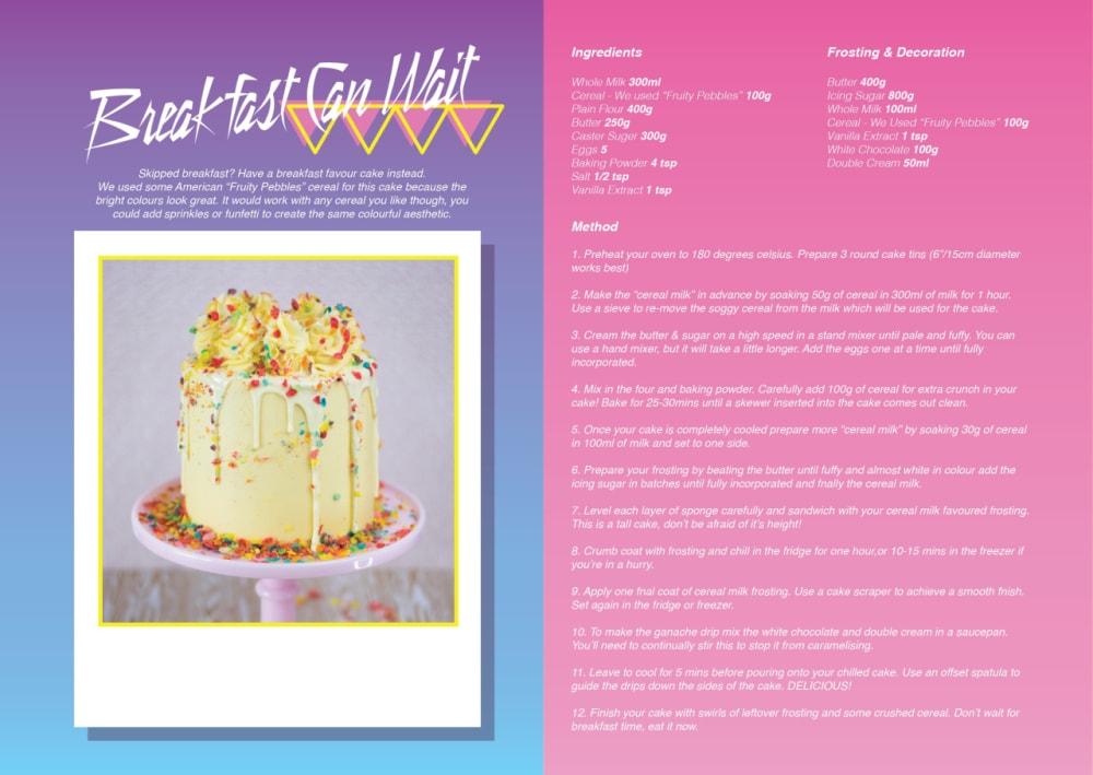 3. BREAKFAST CAN WAIT CAKE