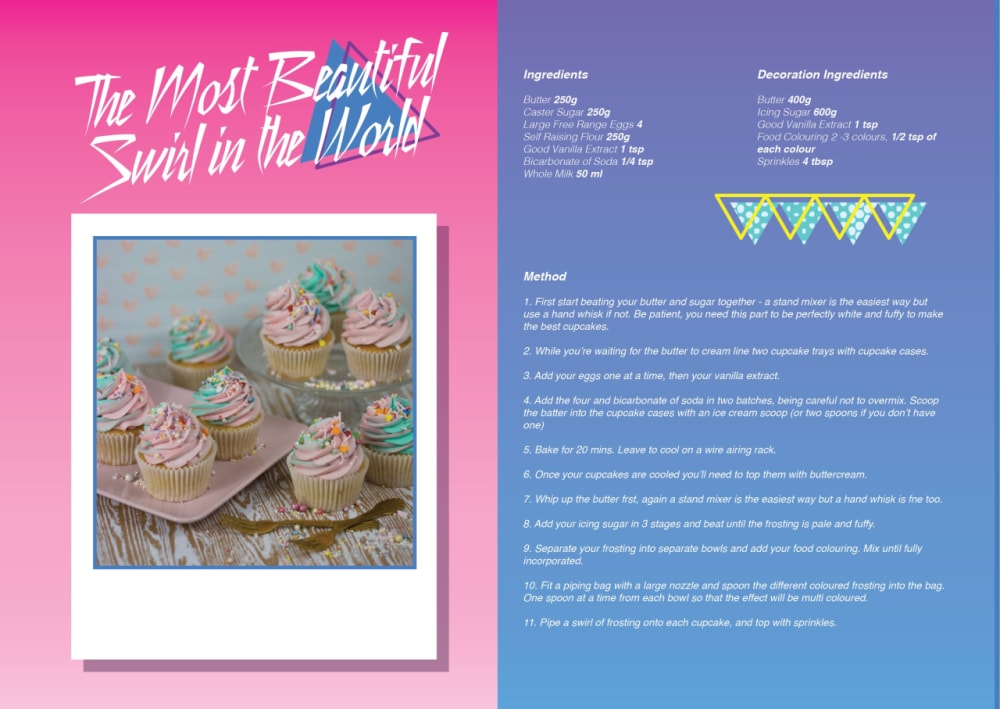 5. THE MOST BEAUTIFUL SWIRL IN THE WORLD CUPCAKES