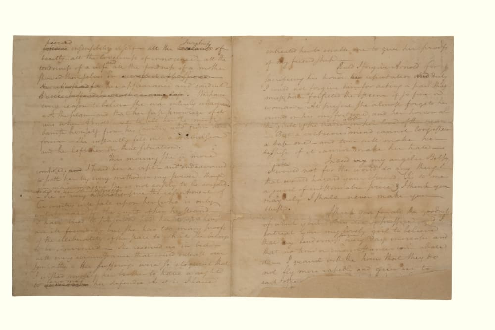 3. LETTER TO ELIZA ABOUT BENEDICT ARNOLD'S TREASON // LOT 1014