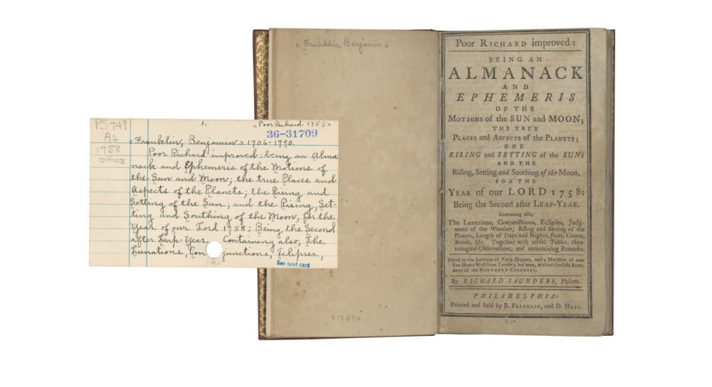 3. <em>POOR RICHARD IMPROVED: BEING AN ALMANACK … FOR THE YEAR OF OUR LORD 1758</em> // BENJAMIN FRANKLIN