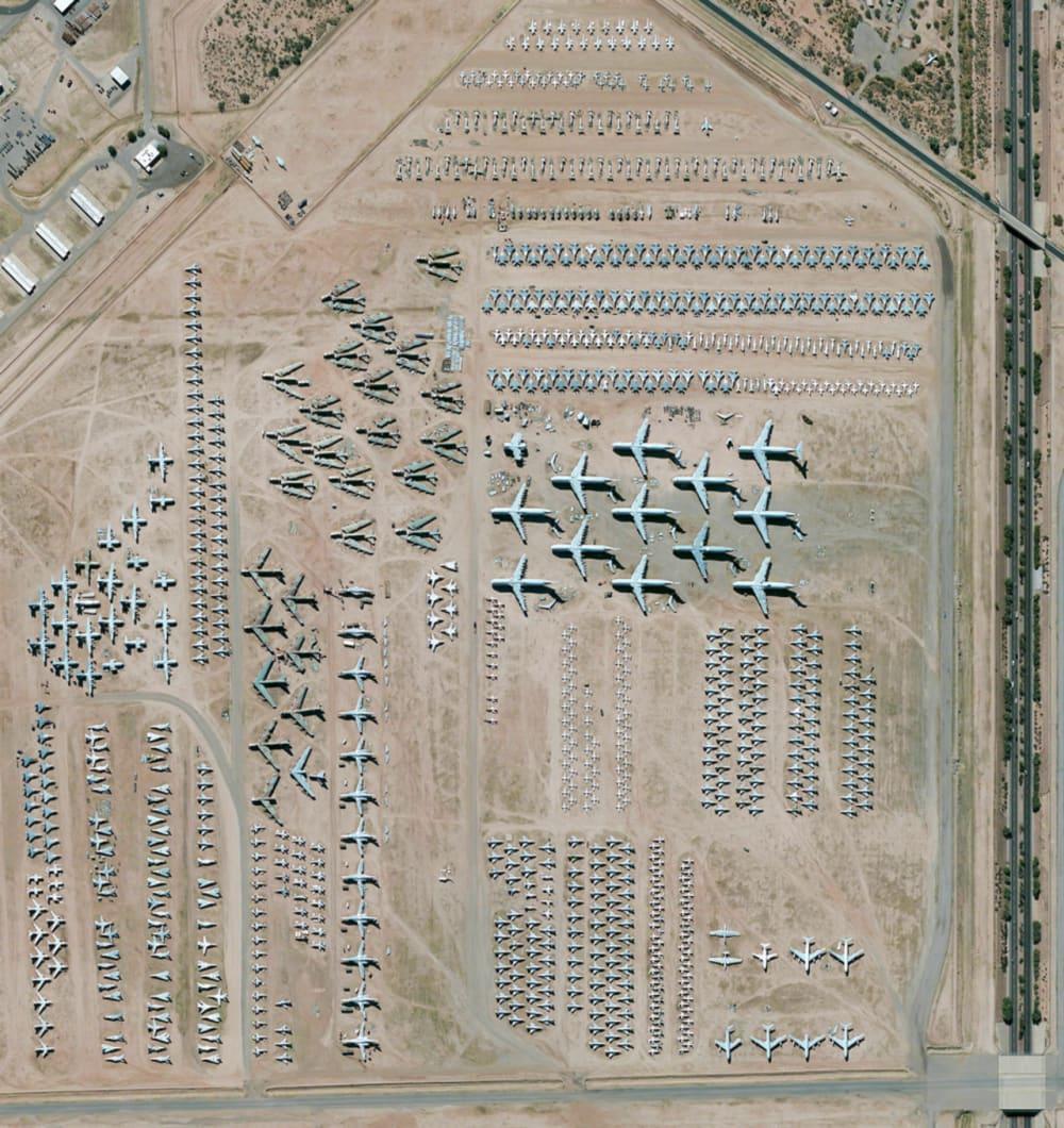 1. DAVIS-MONTHAN AIR FORCE BASE AIRCRAFT BONEYARD // 32·151087°, –110·826079°