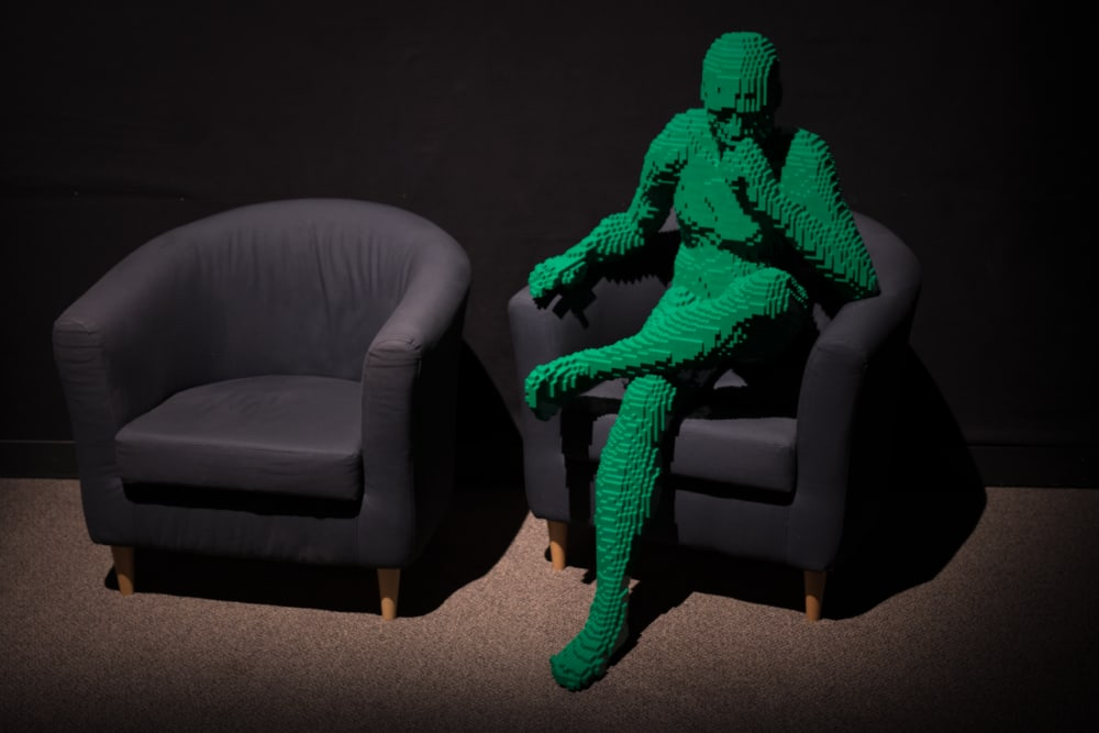 8. GREEN MAN SITTING