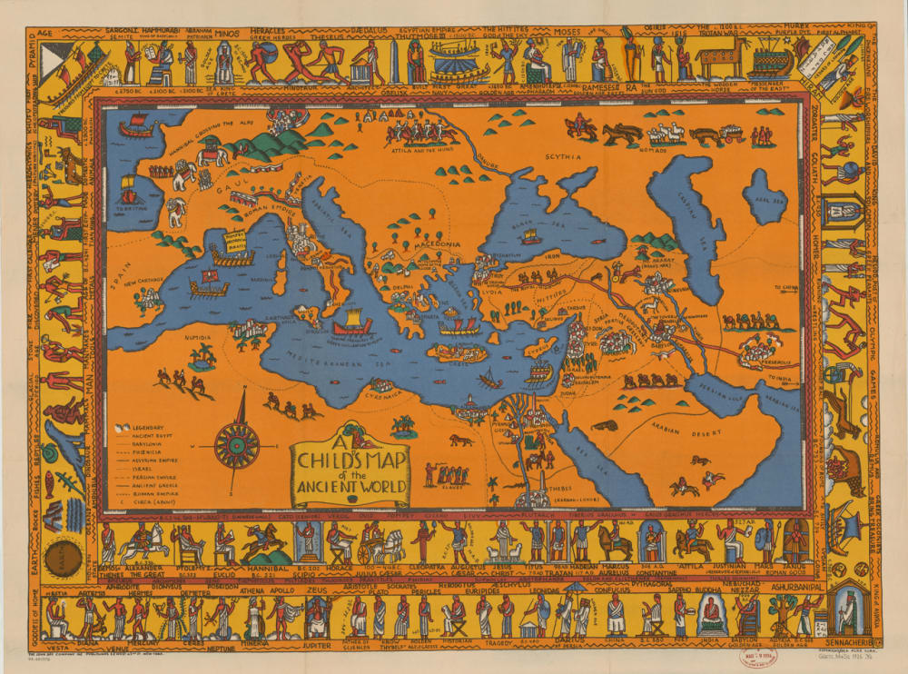 3. A CHILD'S MAP OF THE ANCIENT WORLD, 1926