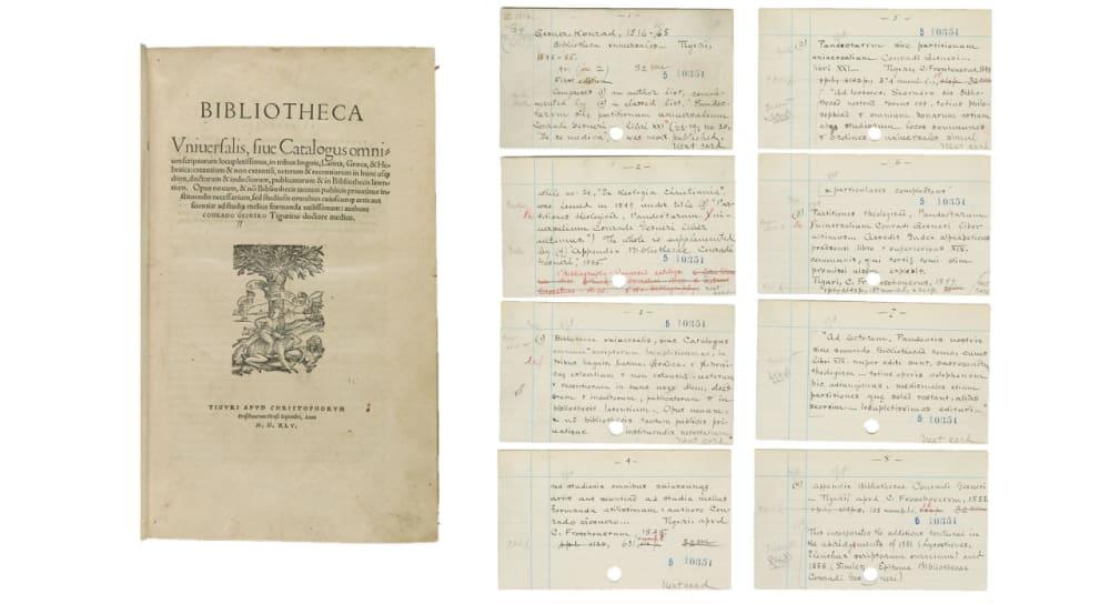 1. <em>BIBLIOTHECA UNIVERSALIS</em> (1545-1555) // CONRAD GESSNER