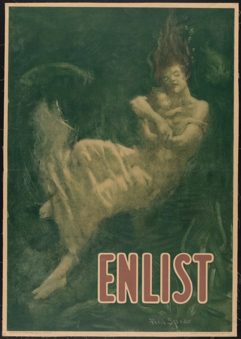 "1. ""ENLIST"" BY FRED SPEAR, 1915"