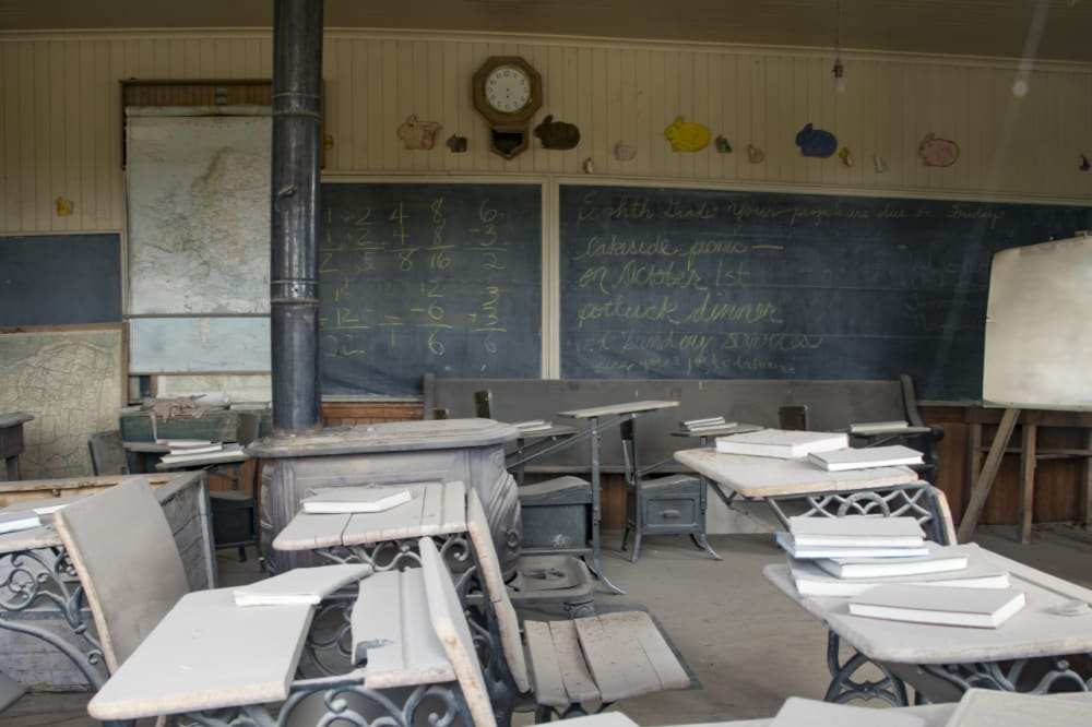 The Interior of the Schoolhouse