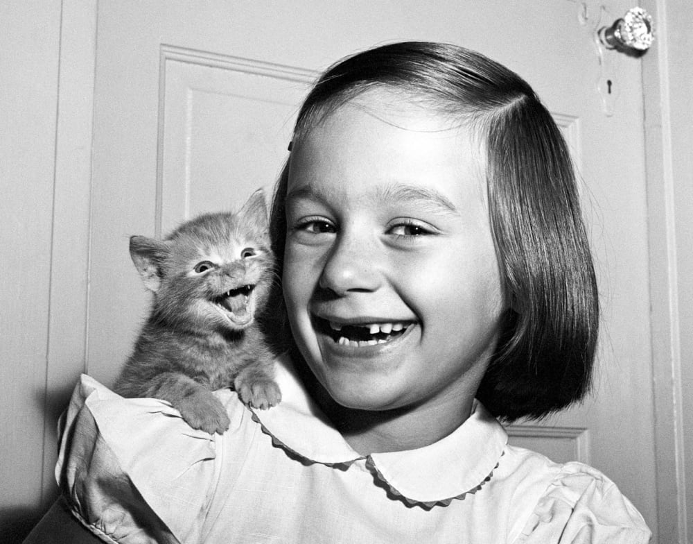 1. <em>Paula and Kitten</em>, Long Island, 1955