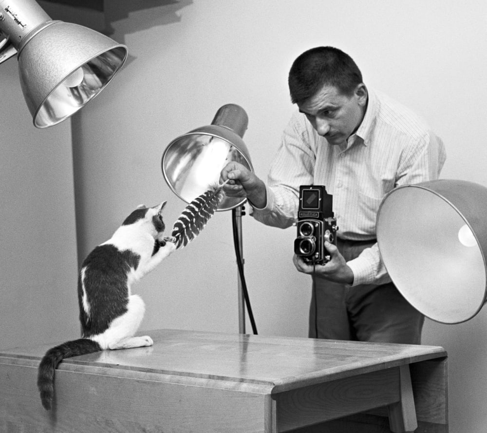 2. Walter Chandoha in His Studio, Long Island, 1955
