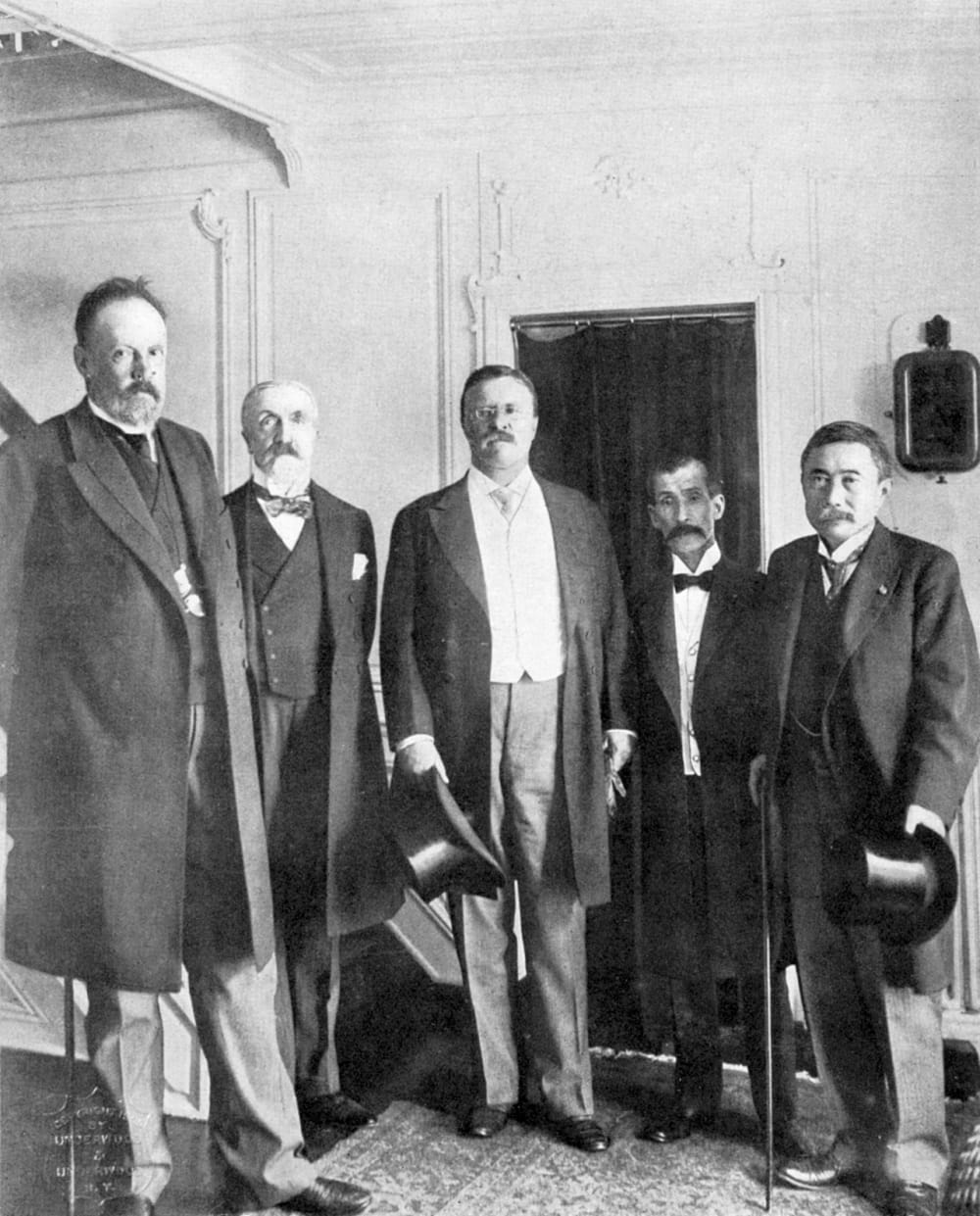 16. Theodore Roosevelt with Russian and Japanese Dignitaries
