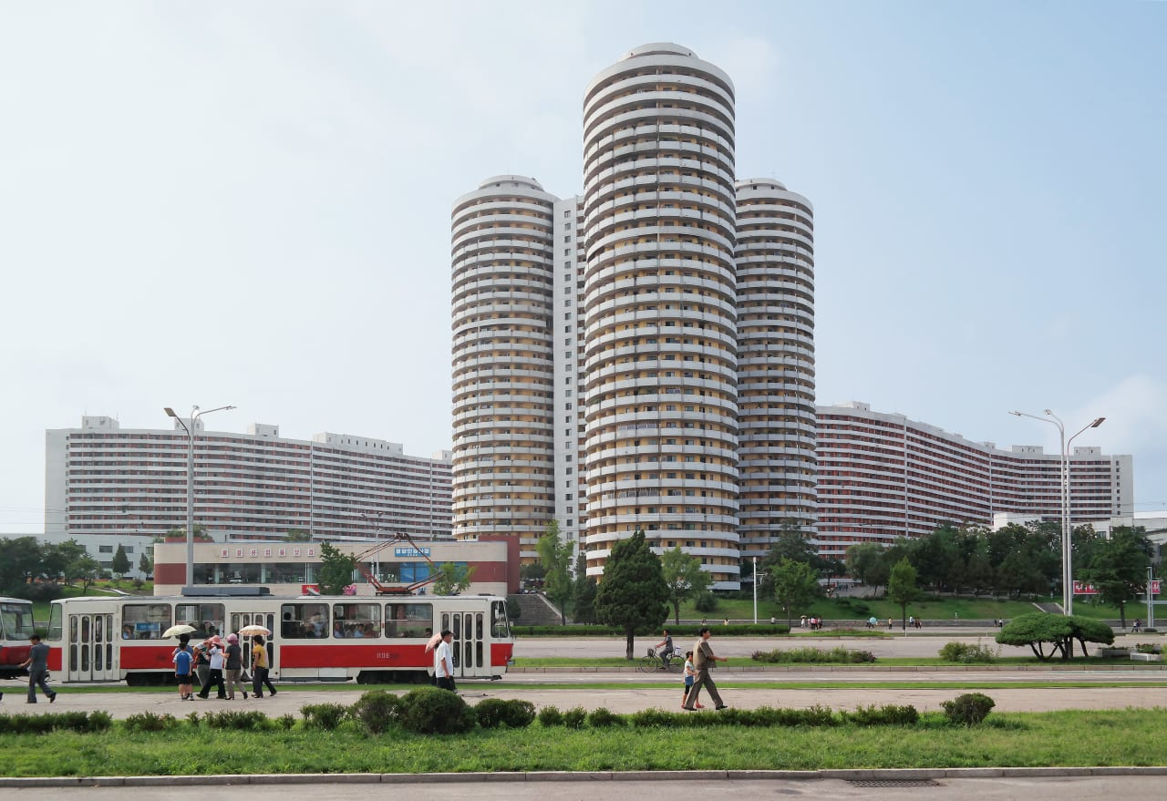 2. Tall Apartment Buildings on Kwangbok Street