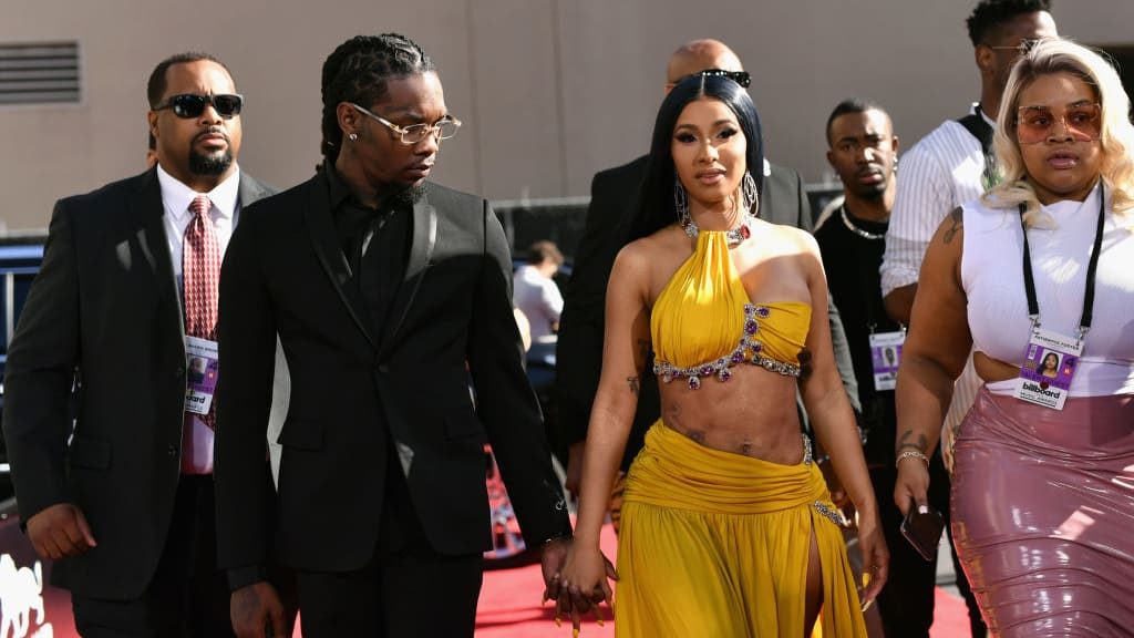 LAS VEGAS, NV - MAY 01:  (L-R) Offset of Migos and Cardi B attend the 2019 Billboard Music Awards at MGM Grand Garden Arena on May 1, 2019 in Las Vegas, Nevada.  (Photo by Emma McIntyre/Getty Images for dcp)