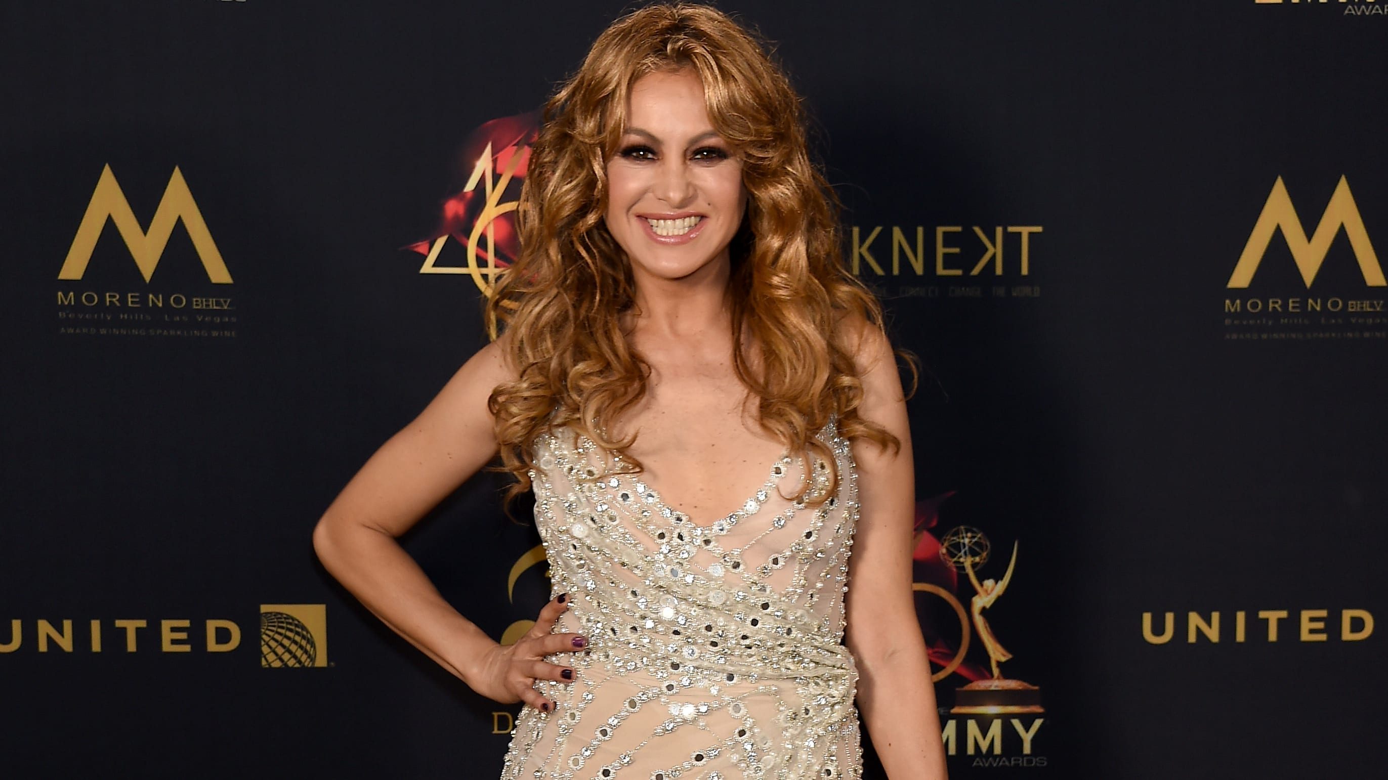 PASADENA, CALIFORNIA - MAY 05: Paulina Rubio poses in the press room during the 46th annual Daytime Emmy Awards at Pasadena Civic Center on May 05, 2019 in Pasadena, California. (Photo by Gregg DeGuire/Getty Images)