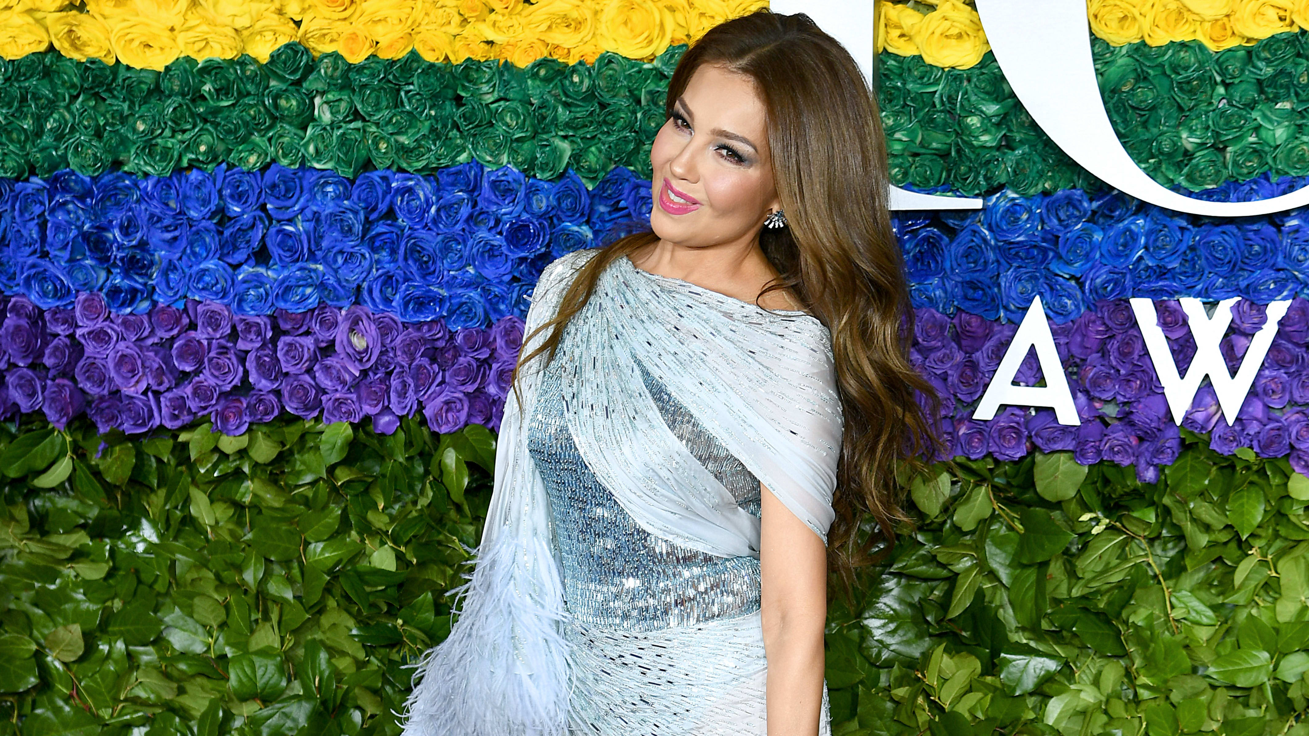 NEW YORK, NEW YORK - JUNE 09: Thalía attends the 73rd Annual Tony Awards at Radio City Music Hall on June 09, 2019 in New York City. (Photo by Dimitrios Kambouris/Getty Images for Tony Awards Productions)