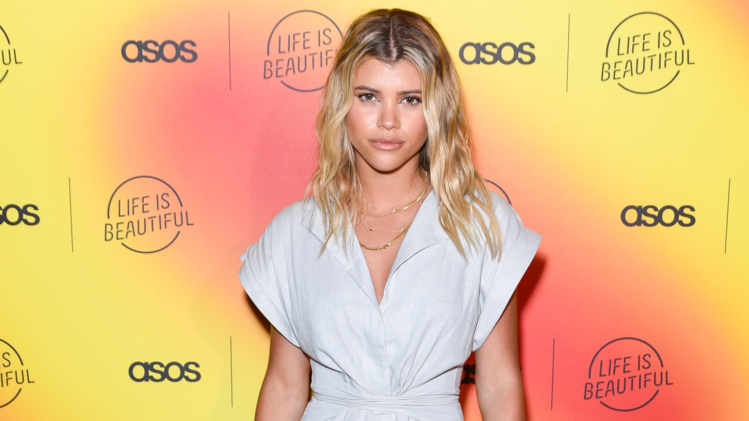 LOS ANGELES, CALIFORNIA - APRIL 25: Sofia Richie attends ASOS celebrates partnership with Life Is Beautiful at No Name on April 25, 2019 in Los Angeles, California. (Photo by Presley Ann/Getty Images)