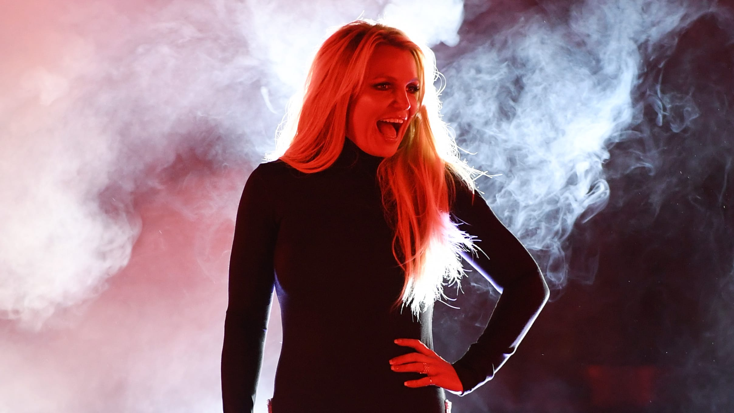 """LAS VEGAS, NEVADA - OCTOBER 18:  Singer Britney Spears attends the announcement of her new residency, """"Britney: Domination"""" at Park MGM on October 18, 2018 in Las Vegas, Nevada. Spears will perform 32 shows at Park Theater at Park MGM starting in February 2019.  (Photo by Ethan Miller/Getty Images)"""