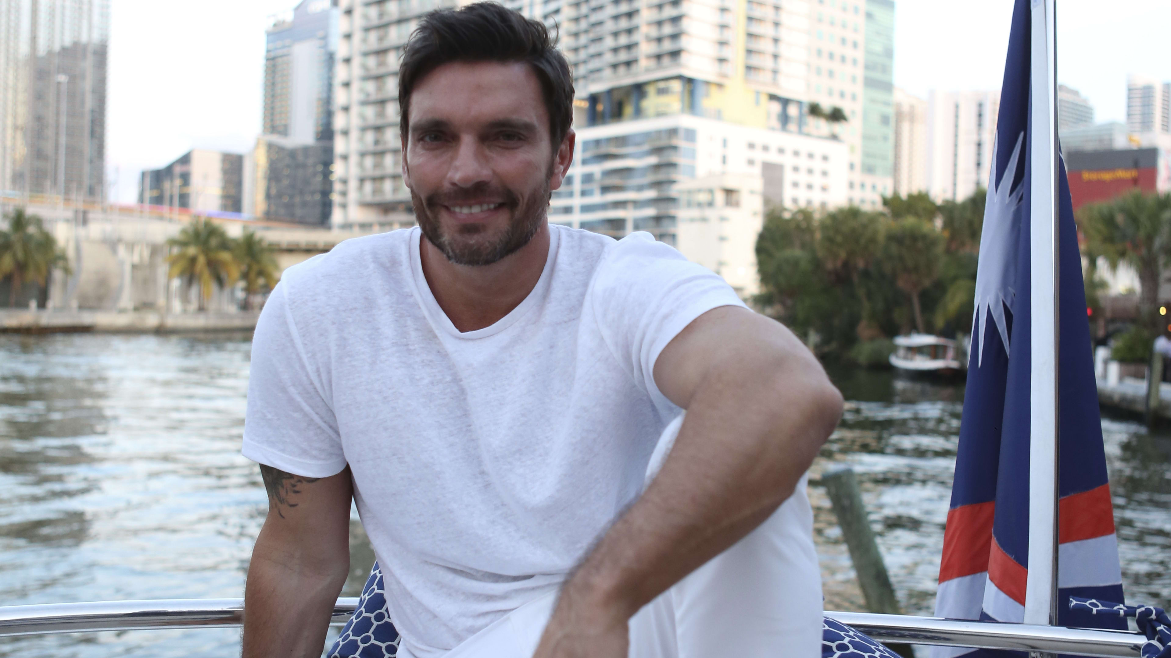 MIAMI, US - APRIL 20: Julian Gil poses at River Yatch Club during the US launch of Carson Life on April 20, 2017 in Miami, Us. (Photo by Marc Serota/LatinContent/Getty Images)