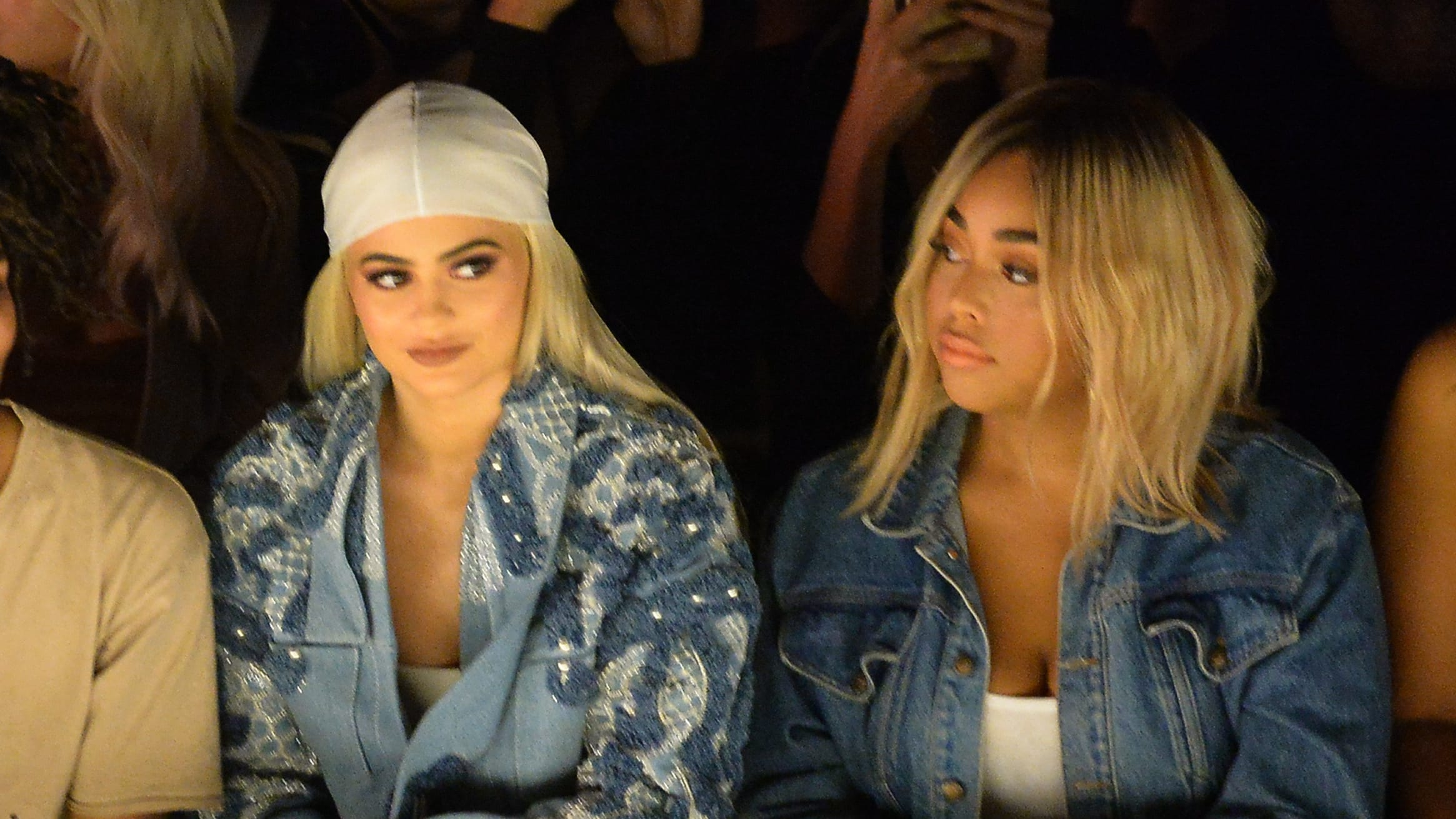 NEW YORK, NY - SEPTEMBER 10:  Kylie Jenner (L) and Jordyn Woods attend the Jonathan Simkhai fashion show during New York Fashion Week: The Shows at The Arc, Skylight at Moynihan Station on September 10, 2016 in New York City.  (Photo by Gustavo Caballero/Getty Images for New York Fashion Week: The Shows)