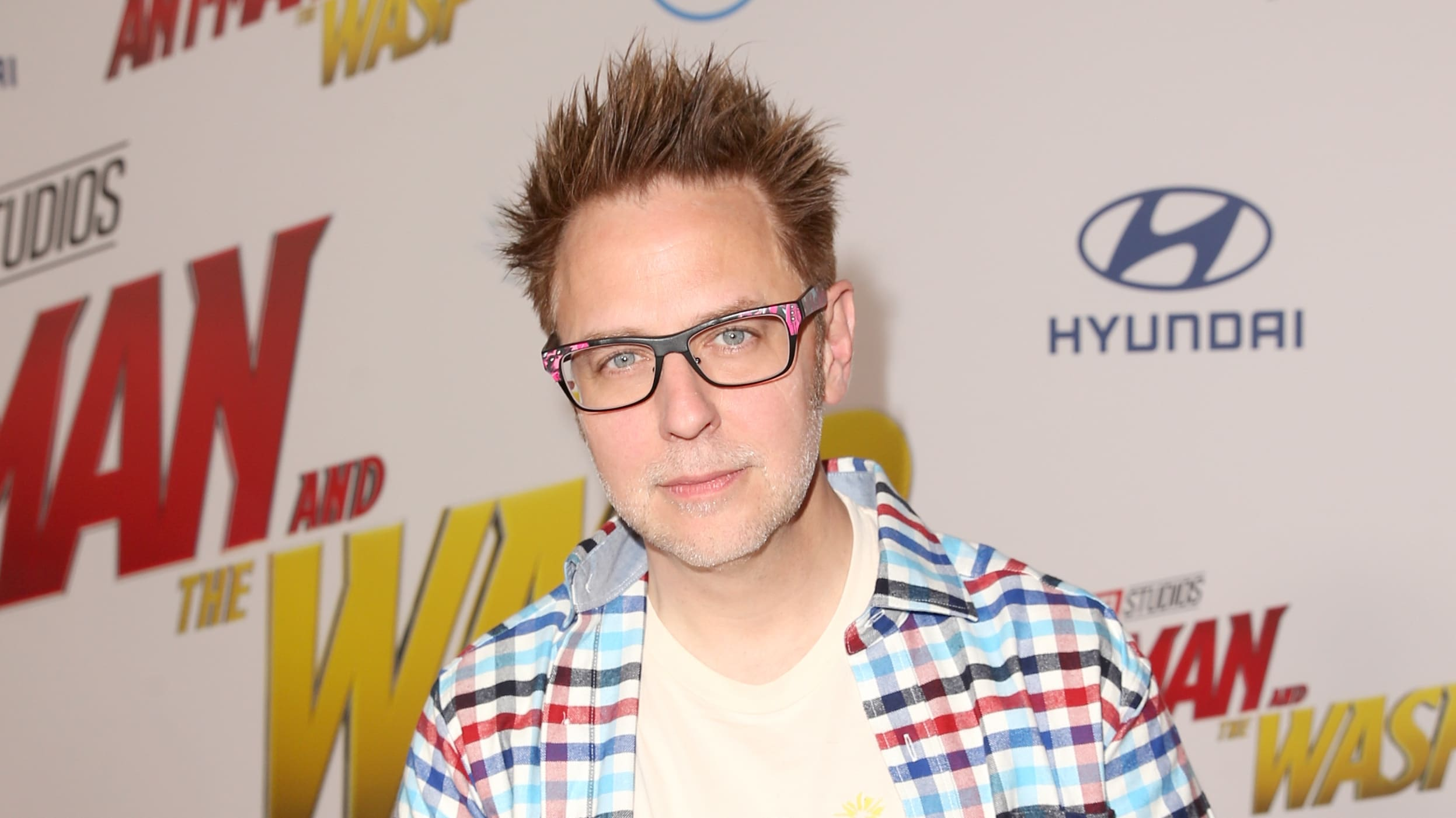 "HOLLYWOOD, CA - JUNE 25: James Gunn attends the Los Angeles Global Premiere for Marvel Studios' ""Ant-Man And The Wasp"" at the El Capitan Theatre on June 25, 2018 in Hollywood, California.  (Photo by Jesse Grant/Getty Images for Disney)"