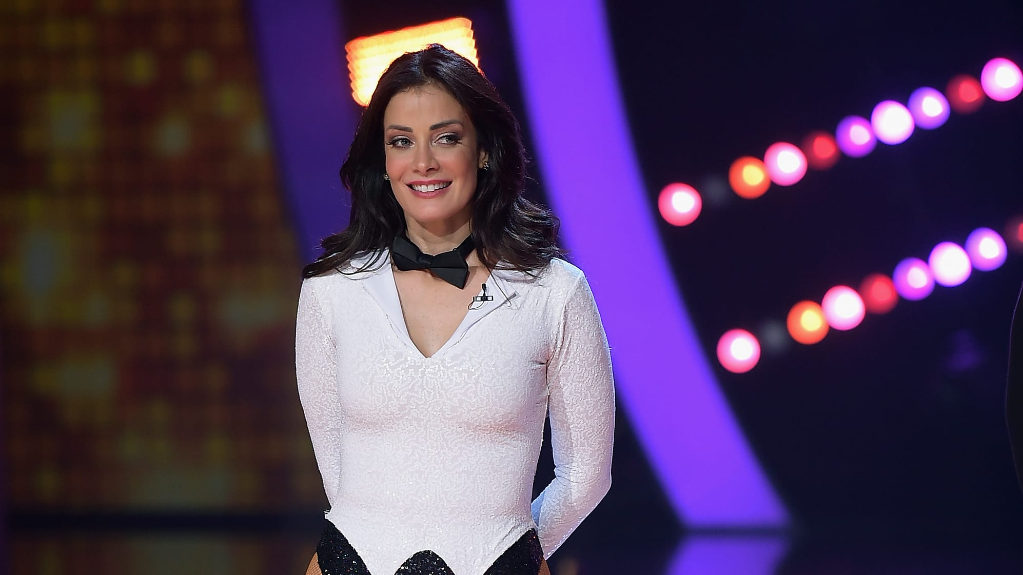 MIAMI, FL - SEPTEMBER 24:  Dayanara Torres attends and dances at the Mira Quien Baila at Univision Studios on September 24, 2017 in Miami, Florida.  (Photo by Gustavo Caballero/Getty Images)