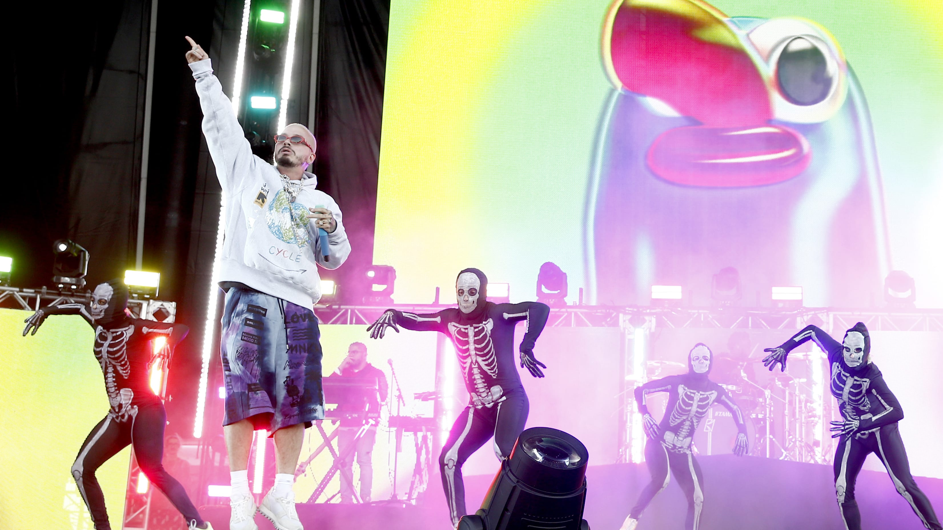 VIRGINIA BEACH, VIRGINIA - APRIL 27: J Balvin performs onstage at SOMETHING IN THE WATER - Day 2 on April 27, 2019 in Virginia Beach City. (Photo by Brian Ach/Getty Images for Something in the Water)