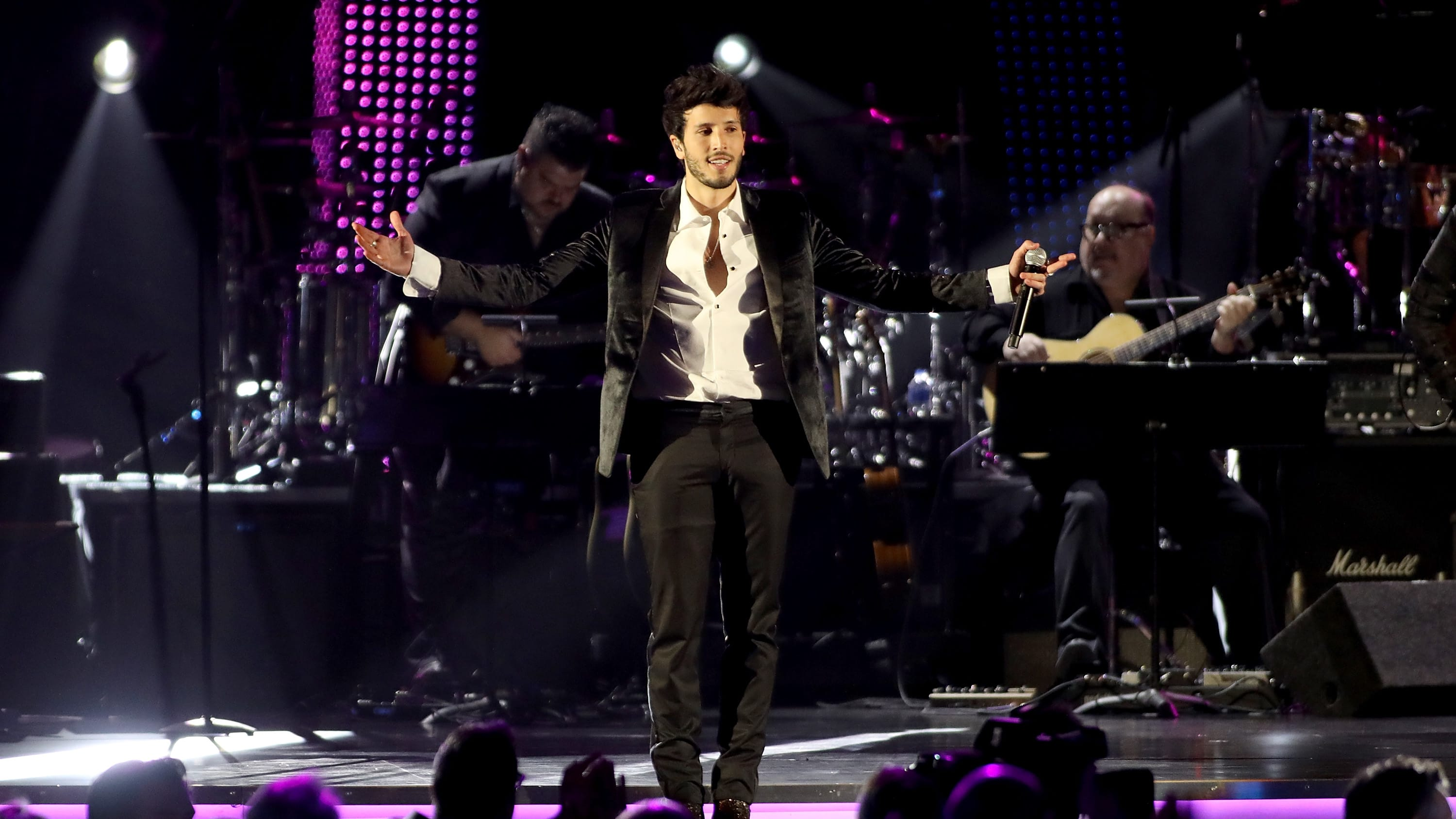 LAS VEGAS, NV - NOVEMBER 14:  Sebastian Yatra performs onstage at the Latin Recording Academy's 2018 Person of the Year gala honoring Mana at the Mandalay Bay Events Center on November 14, 2018 in Las Vegas, Nevada.  (Photo by Roger Kisby/Getty Images)