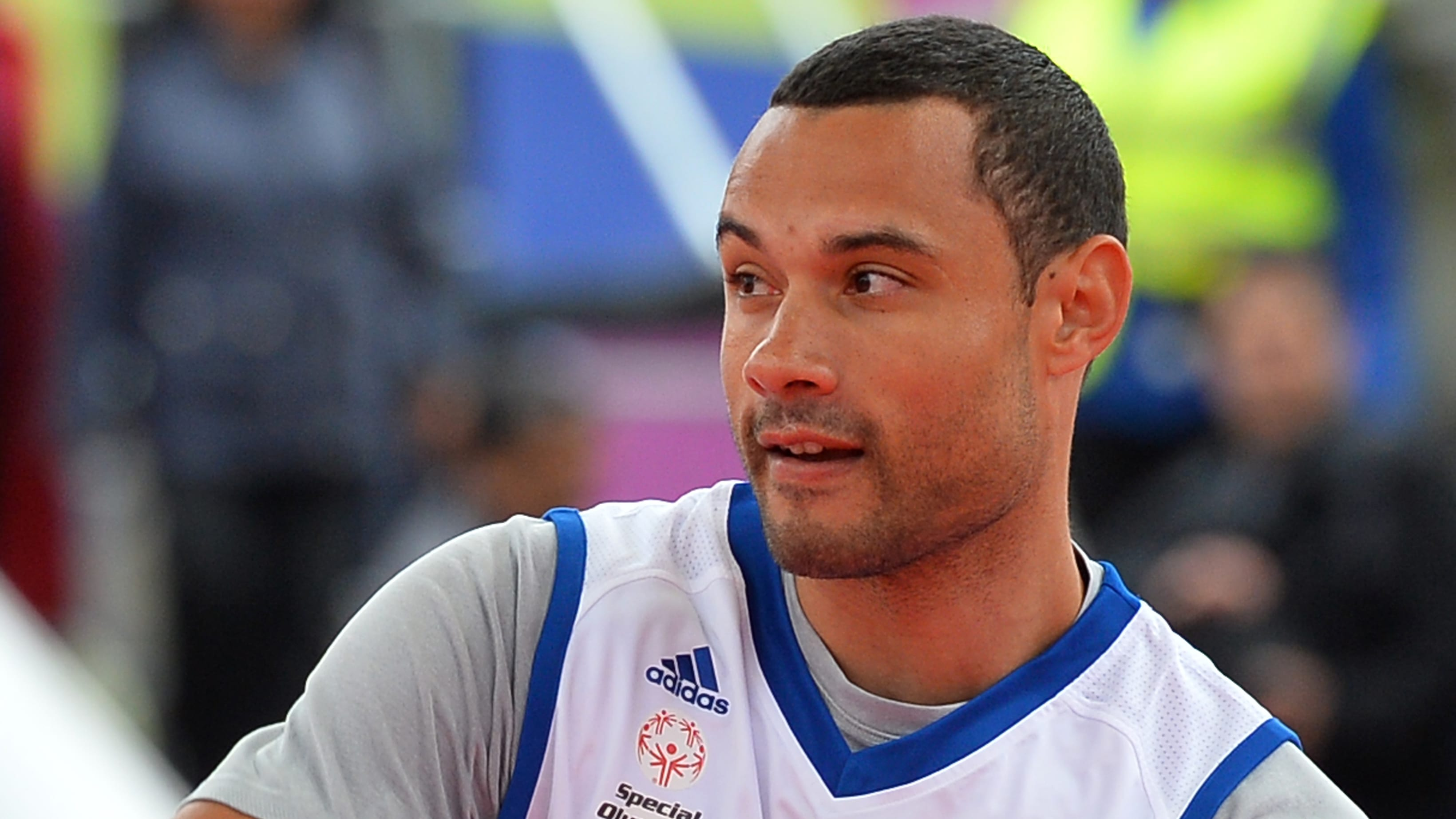 Retired US professional basketball player Trajan Langdon plays basketball during a goodwill game organised by Euroleagues sport and social development programme One Team as part of the Euroleague 2013 Final Four basketball weekend festivities in Trafalgar Square, central London, on May 10, 2013. AFP PHOTO / BEN STANSALL        (Photo credit should read BEN STANSALL/AFP/Getty Images)