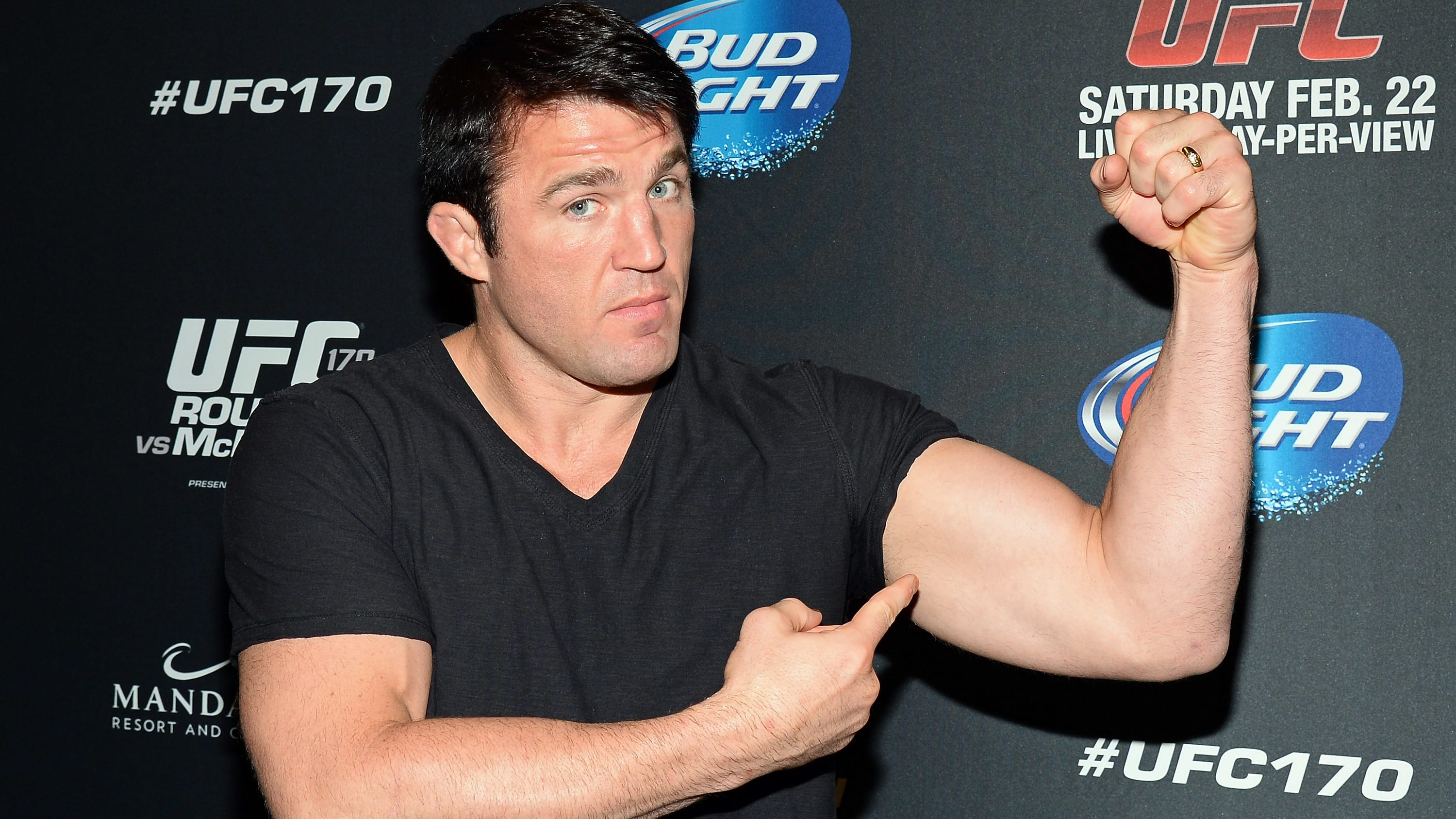 LAS VEGAS, NV - FEBRUARY 22:  Mixed martial artist Chael Sonnen attends the UFC 170 event at the Mandalay Bay Events Center on February 22, 2014 in Las Vegas, Nevada.  (Photo by Ethan Miller/Getty Images)