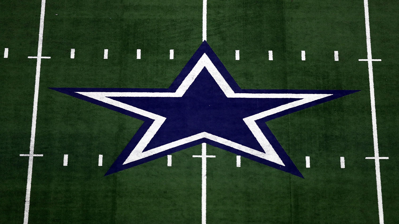 ARLINGTON, TX - SEPTEMBER 30:  The Dallas Cowboys logo at AT&T Stadium on September 30, 2018 in Arlington, Texas.  (Photo by Ronald Martinez/Getty Images)