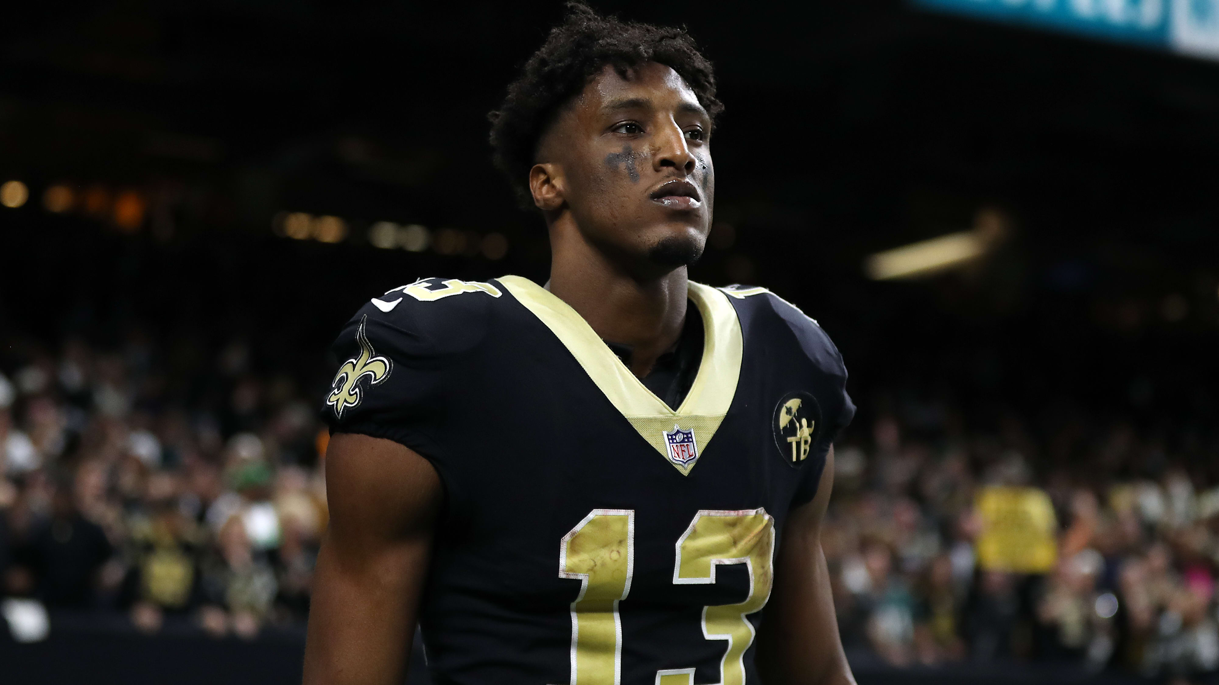 NEW ORLEANS, LOUISIANA - JANUARY 13: Michael Thomas #13 of the New Orleans Saints during the NFC Divisional Playoff at the Mercedes Benz Superdome on January 13, 2019 in New Orleans, Louisiana. (Photo by Chris Graythen/Getty Images)