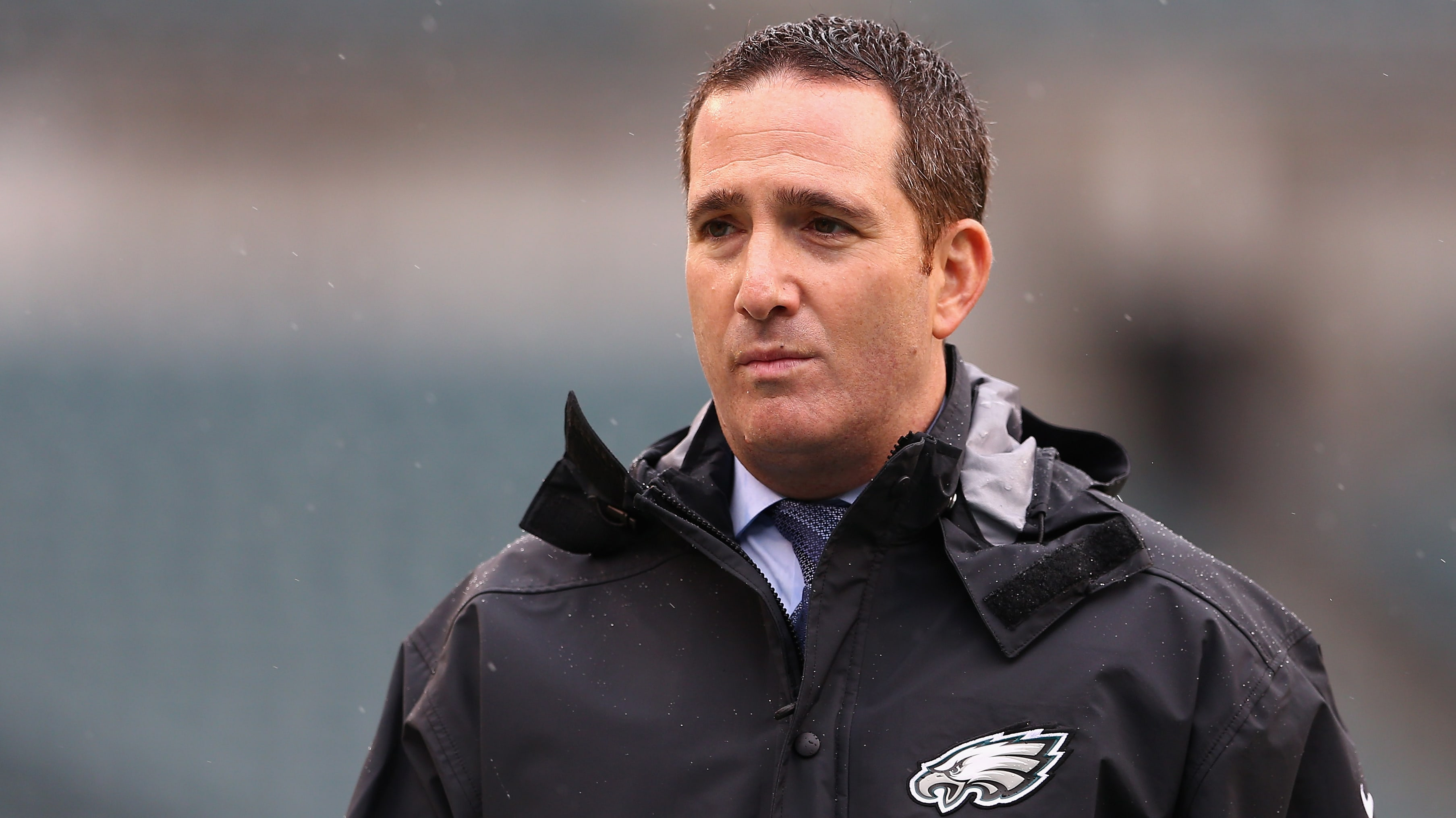 PHILADELPHIA, PA - SEPTEMBER 23:  Howie Roseman, General Manager of the Philadelphia Eagles looks on before the game against the Indianapolis Colts at Lincoln Financial Field on September 23, 2018 in Philadelphia, Pennsylvania.  (Photo by Mitchell Leff/Getty Images)