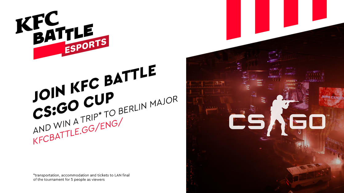 KFC to Host Amateur CS:GO Tournament for Central and Eastern European Players