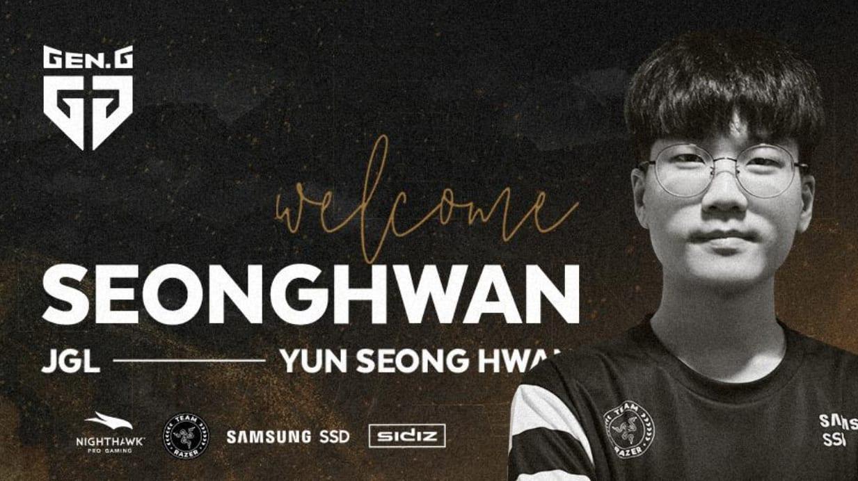 SeongHwan Joins Gen.G League of Legends Roster