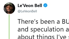 Le'Veon Bell responded to reports of head coach Adam Gase not wanting to throw the bank to sign him.