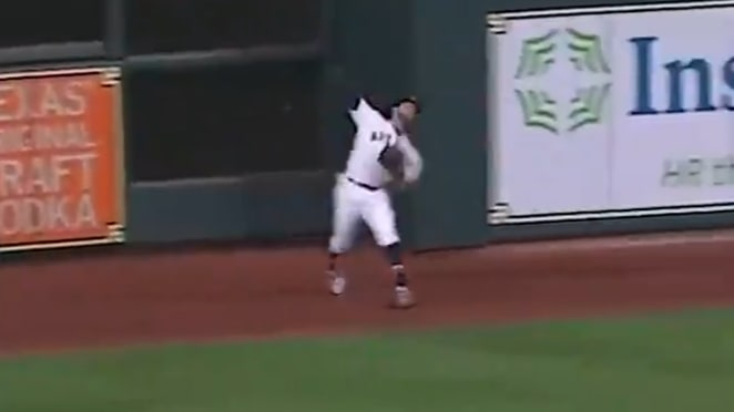 Jake Marisnick had an impressive double play on Wednesday against the Chicago White Sox.