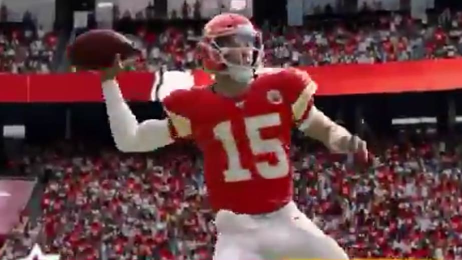 Madden 20 features signature animations for Patrick Mahomes and Aaron Rodgers.