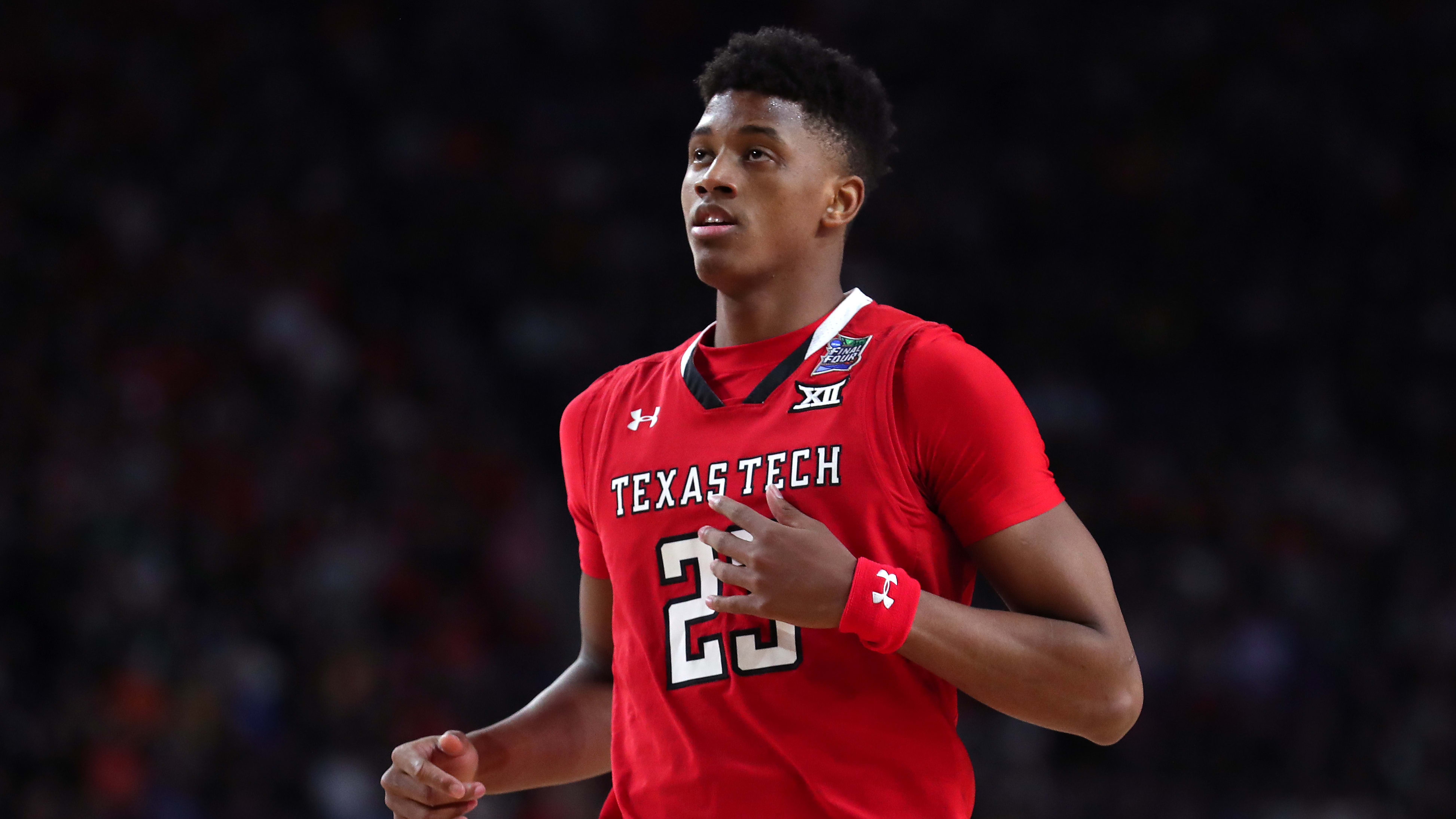 MINNEAPOLIS, MINNESOTA - APRIL 06: Jarrett Culver #23 of the Texas Tech Red Raiders reacts in the second half against the Michigan State Spartans during the 2019 NCAA Final Four semifinal at U.S. Bank Stadium on April 6, 2019 in Minneapolis, Minnesota. (Photo by Tom Pennington/Getty Images)