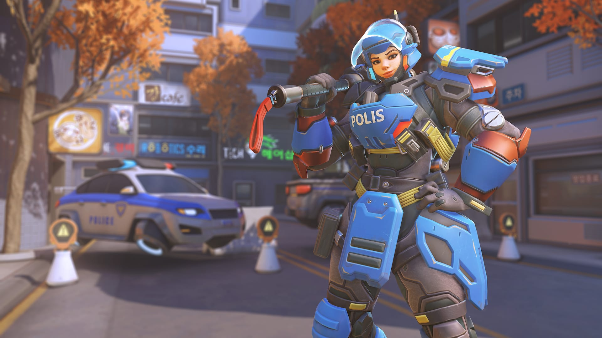 Riot Police Brigitte is now available as part of Overwatch Anniversary 2019.